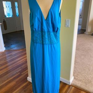 Bright blue long nightgown